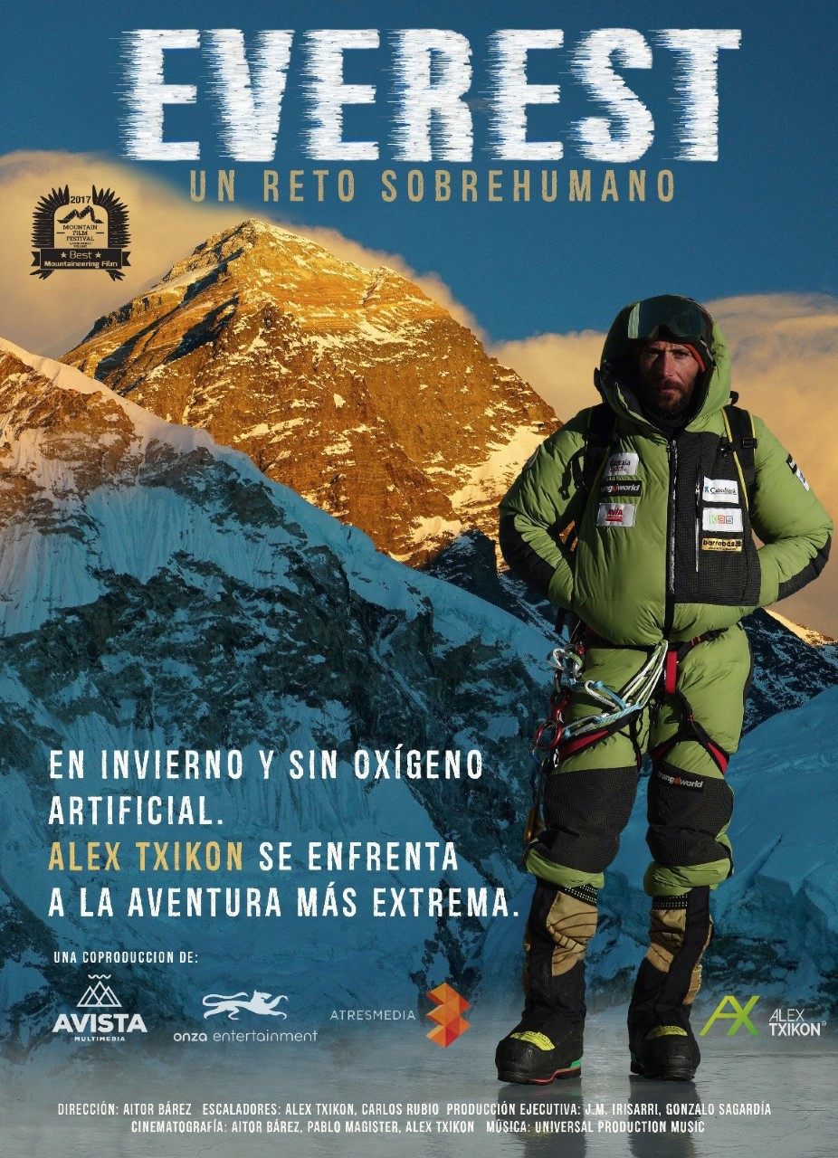 "Barcelona estrena la película «Everest», un reto ""sobrehumano"" del alpinista Alex Txikon"