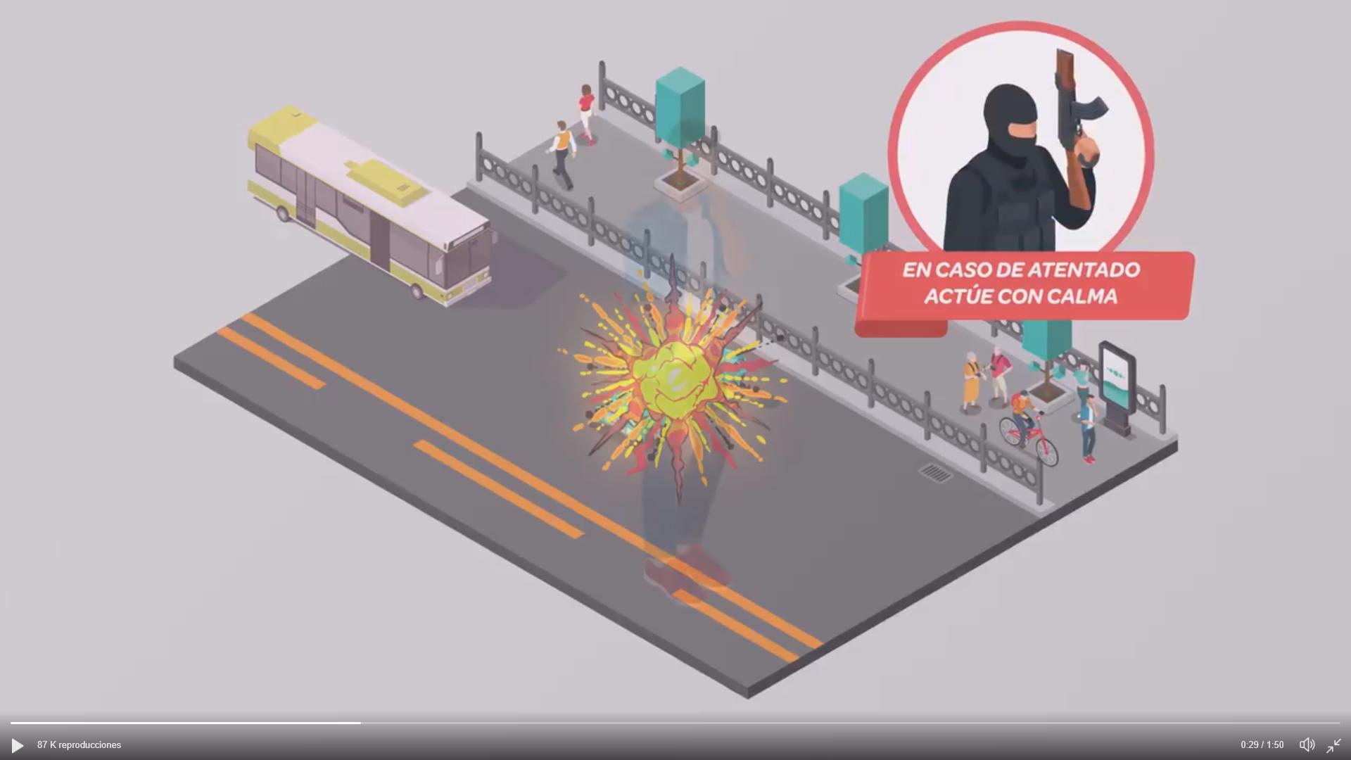 (Vídeo). Consejos y pautas ante un atentado terrorista: Jamás fingir estar muerto