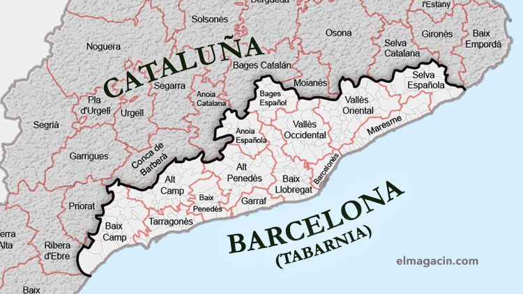 Tabarnia, 18ª Comunidad Autónoma de España con 2 provincias: Barcelona y Tarragona