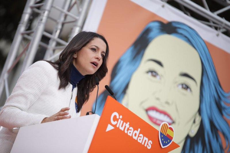 """Arrimadas: """"Ciudadanos Cs el único voto que puede ganar a los separatistas en las urnas"""""""