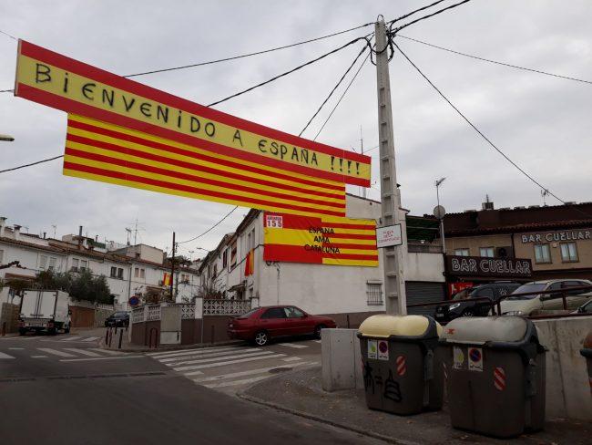 Gerona dedica hoy una pitada al separatismo por cambiar la Plaza Constitución por Pl. 1-O