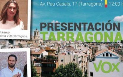 Presentación de VOX en Tarragona el próximo domingo 28 de enero