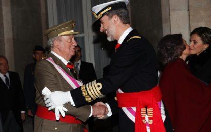 """""""Muchas gracias"""" al Rey-padre por """"tantos años de servicio leal a España"""""""