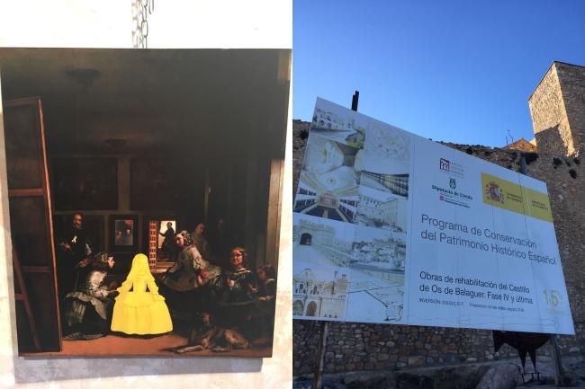 Ataque separatista contra «Las Meninas» de Velázquez en edificio del Gobierno en Lérida
