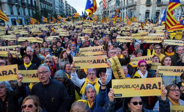 ANC moviliza solo a 45 mil separatistas para «República Ahora» y «Políticos Presos»