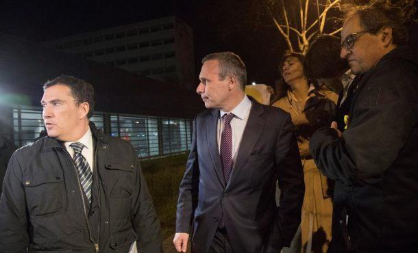 El profesor separatista Josep Lluis Alay Rodríguez que acompañaba a Puigdemont