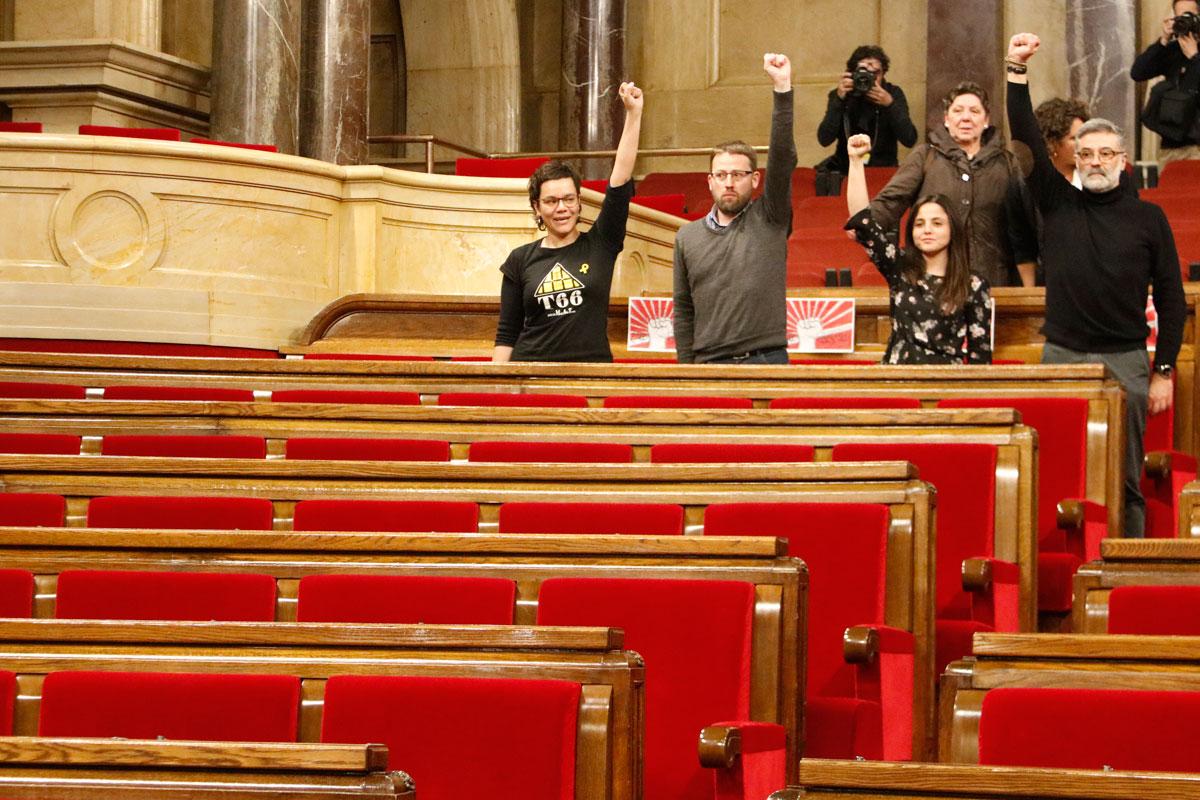"""CUP, ERC y Convergenci reclaman """"libertad inmediata de Puigdemont"""""""