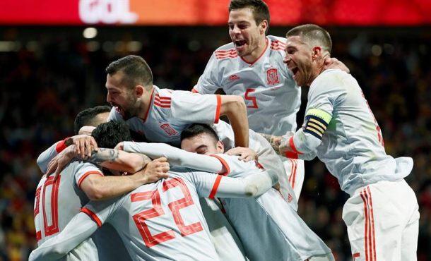 España atropella a Argentina de Leo Messi