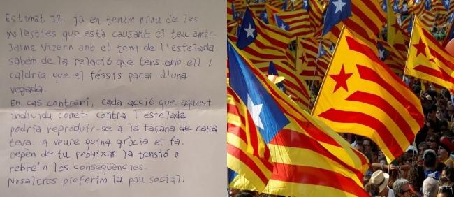 Los republicanos amenazan por carta a españoles en Manresa (Barcelona)