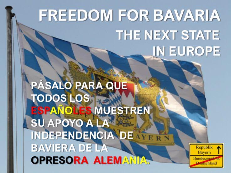 """Los españoles reclaman la """"independencia de Baviera (Alemania)"""" y cargan contra Merkel"""