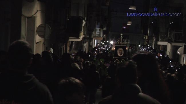 Palafolls canta «El Novio de la Muerte» de La Legión en su Precesión de Jueves Santo 2018