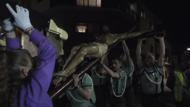 Encontronazo entre Virgen y Jesús Crist «Cristo de la Buena Muerte» en Palafolls (Barcelona)