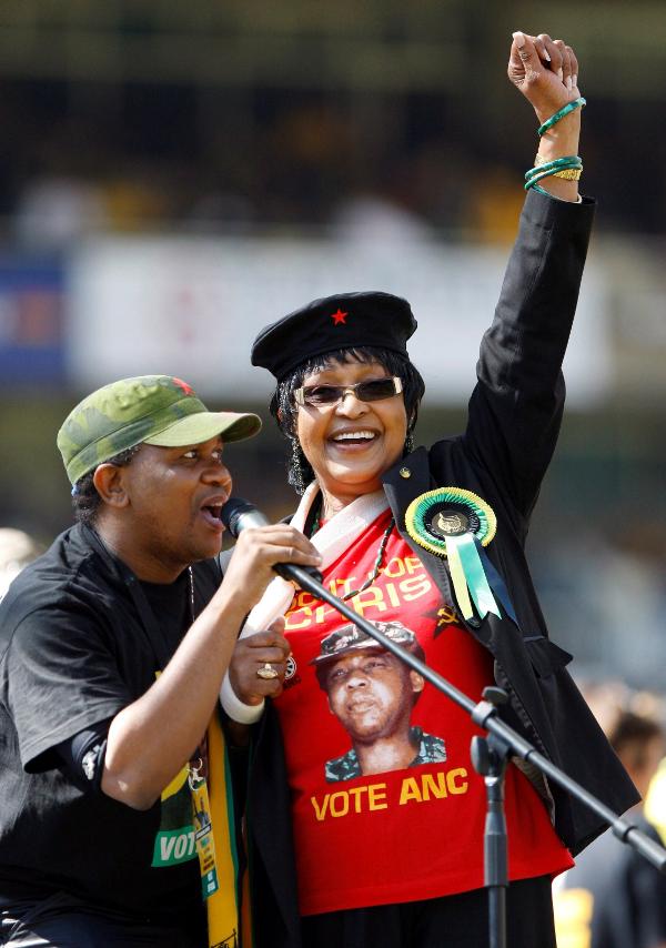 Winnie Mandela, comunista burguesa de ANC, nada que ver con ANC separatista de Jordis