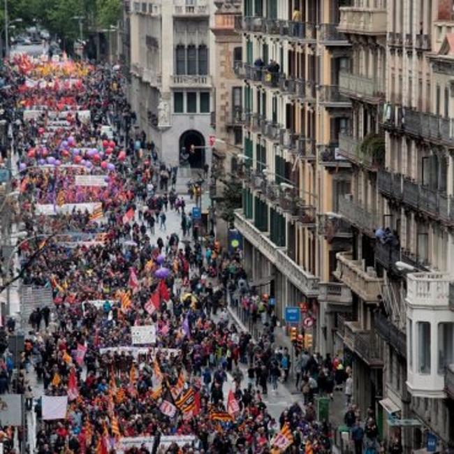 """Traidores UGT y CCOO Cataluña piden """"romper muros"""" después de apoyar el independentismo"""
