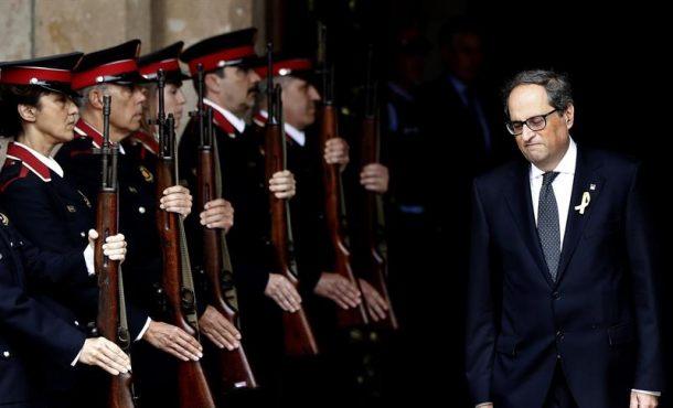 Neonazi indepe Quim Torra a pocas horas de su toma posesión como 131º presidente de Cataluña