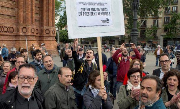 """La Izquierda clama en Barcelona contra Quim Torra, """"un presidente xenófobo, racista y fascista"""""""