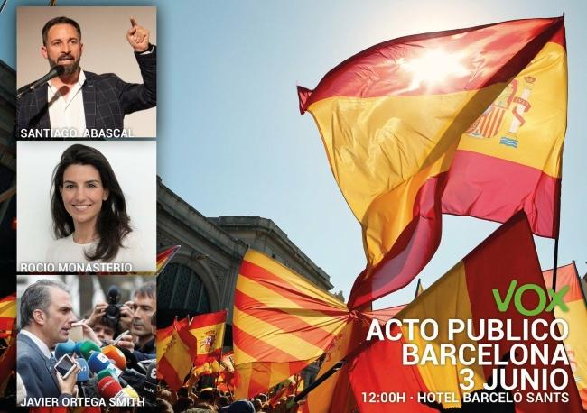 VOX impulsa su implantación en Barcelona con un gran acto el próximo domingo 3-J