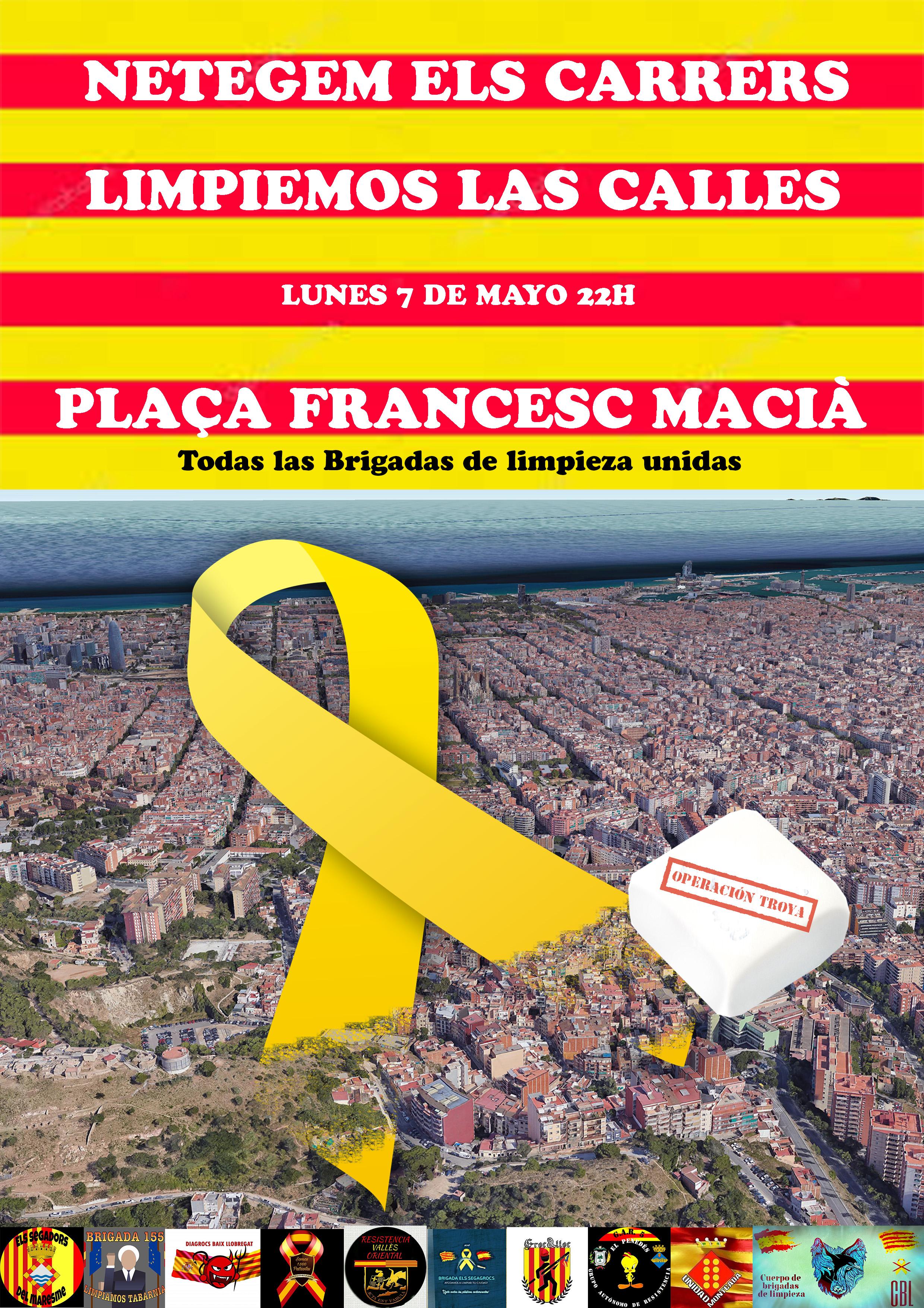 Cartel de la «Operación Troya» contra la contaminante amarilla neonazi republicana