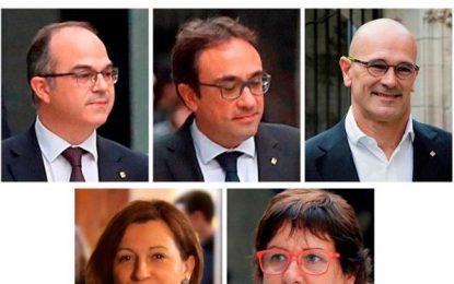 El Tribunal revisa hoy la prisión de los políticos presos Forcadell, Turull, Romeva, Rull y Bassa