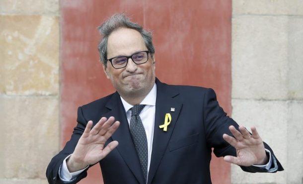 """El racista Quim Torra exige que Rajoy """"fije día y hora"""" para levantar el 155 inmediatamente"""