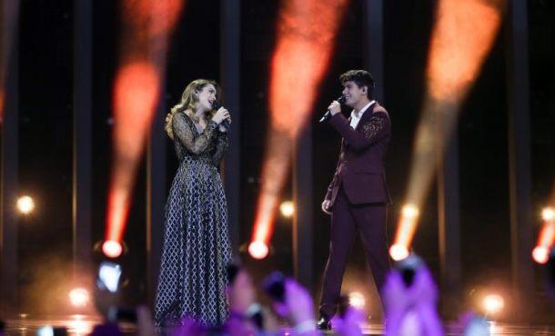 Los representantes españoles en Eurovisión Amaia y Alfred, contentos con su actuación