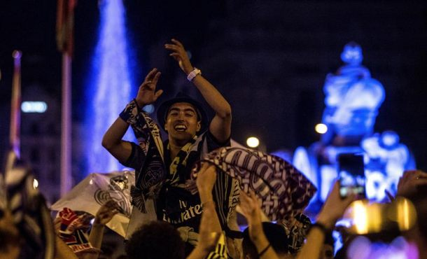 Celebraciones en Cibeles, capital de España, por la decimotercera del Real Madrid
