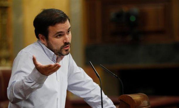 """Garzón (IU): La """"prioridad absoluta es echar al PP"""", apoyaremos la moción de censura"""