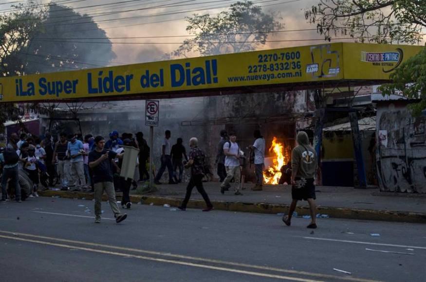 La violencia a Nicaragua con muertos y heridos