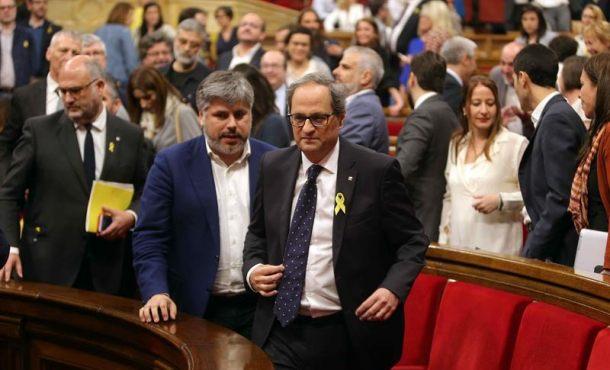 """El nazi Quim Torra no descarta una querella por """"prevaricación"""" contra Rajoy"""
