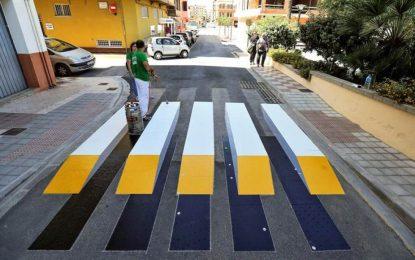 Almussafes, primera localidad de España con paso de peatones tridimensional (3D)