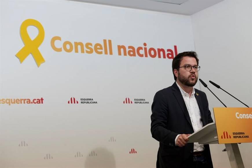 """ERC """"trabaja"""" para un nuevo 1-O pactado con el PSOE y Podemos"""