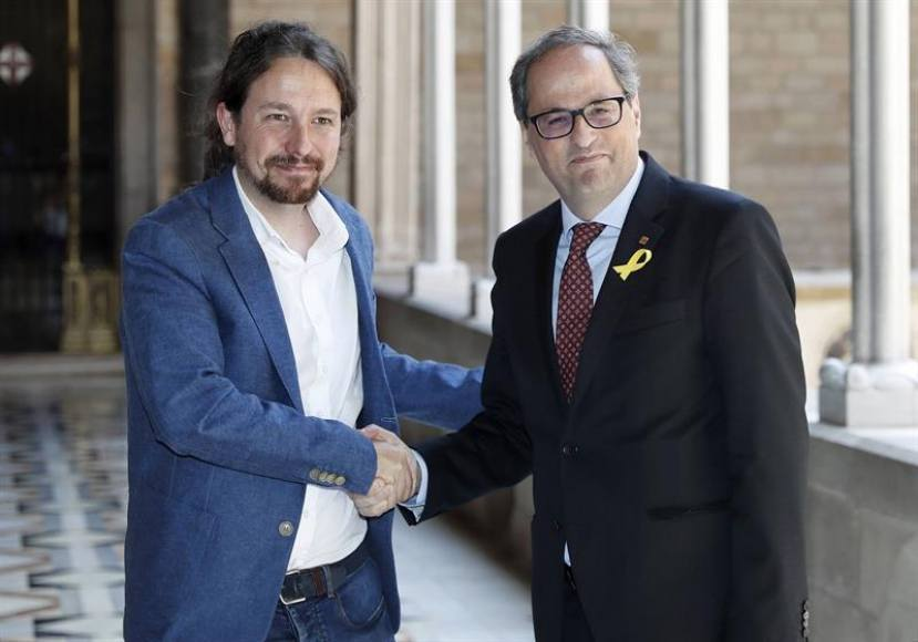 Pablo Iglesias, un comunista que blanquea a neofascistas como Quim Torra