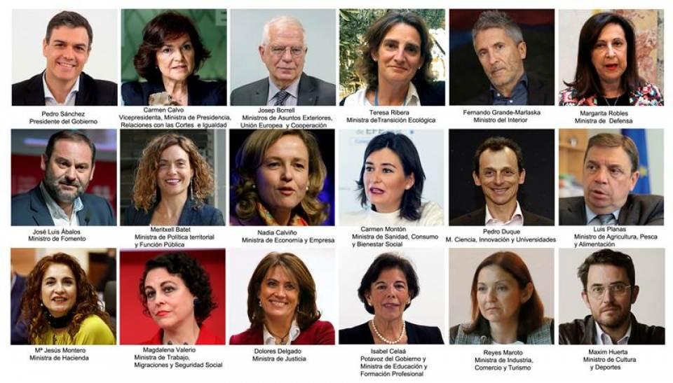 El nuevo Gobierno de España, con 25 Secretarías de Estado