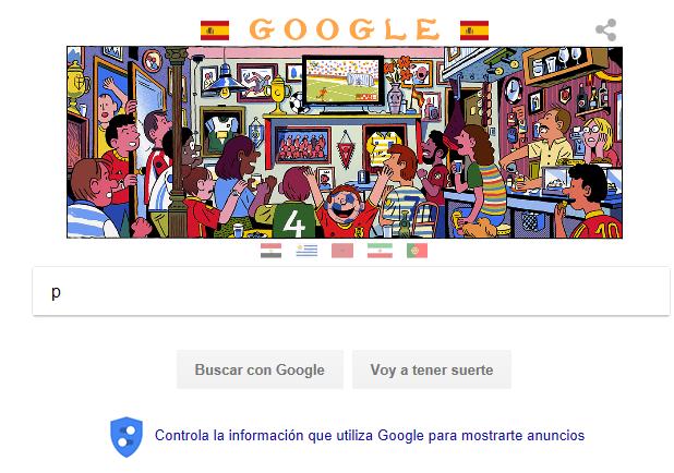 Google se viste de los colores de España para apoyar a la Selección en el Mundial 2018