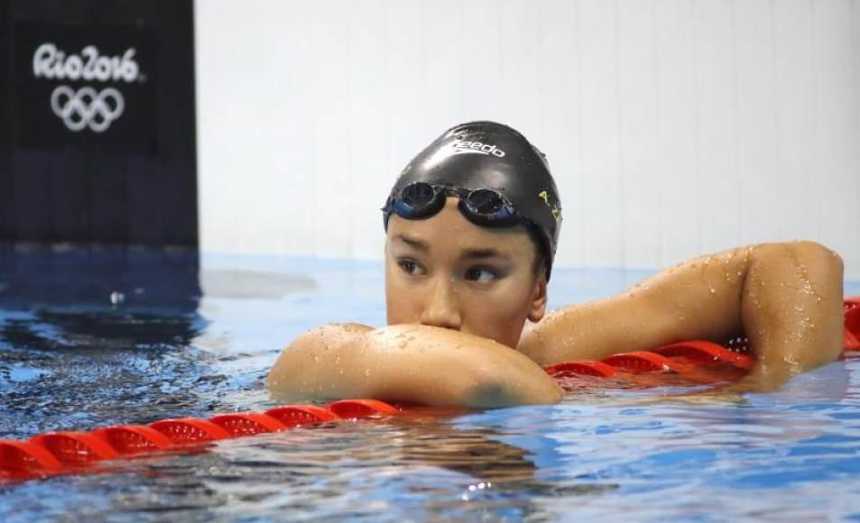 La española África Zamorano, una de las grandes figuras de la floreciente natación española