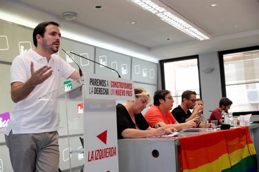 """El partido comunista de España (IU) pide más """"contundencia"""" al Gobierno de Sánchez"""