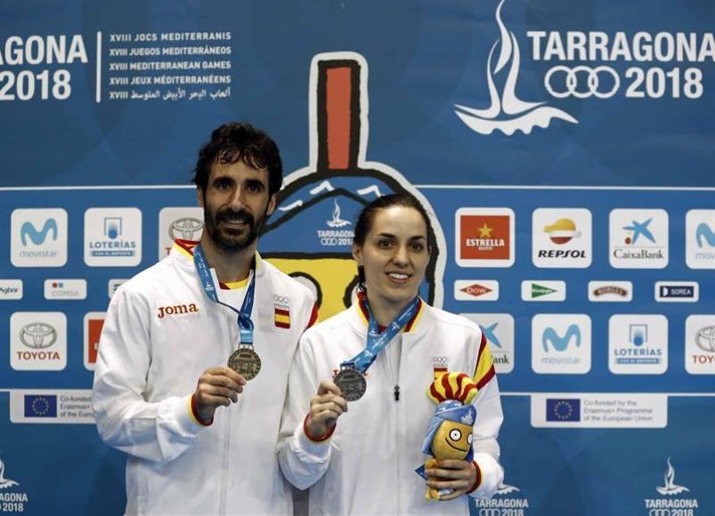 Pablo Abián logró el oro y Beatriz Corrales la plata en finales de bádminton