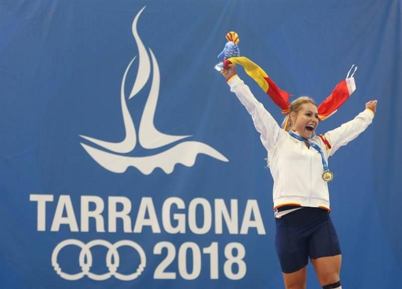 10 medallas y 2 oros de Lidia Valentín de la halterofilia española en Tarragona 2018