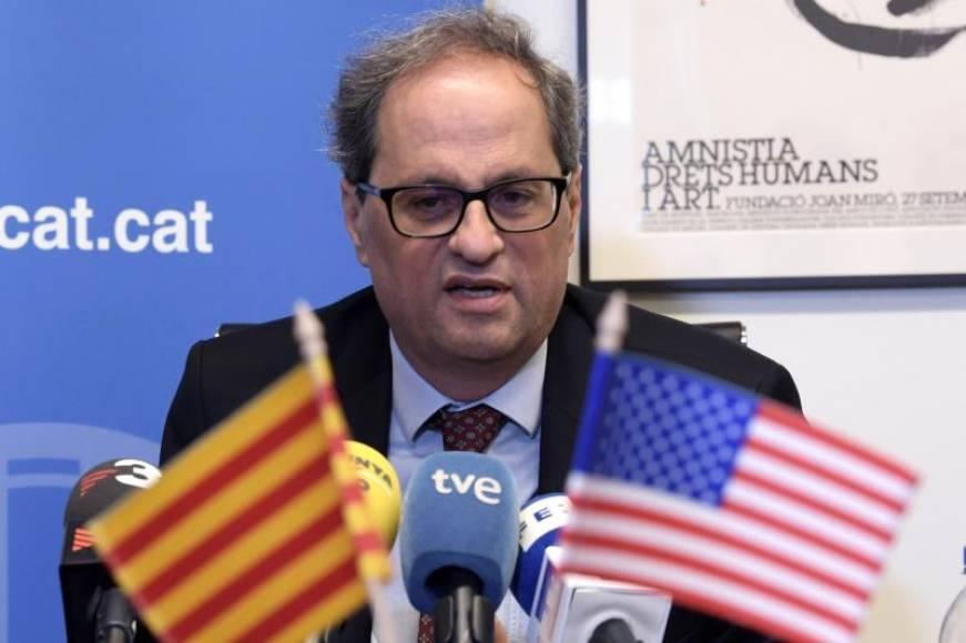"""Torra advierte al Gobierno de que quiere convocar un """"referéndum"""" de independencia de Cataluña"""