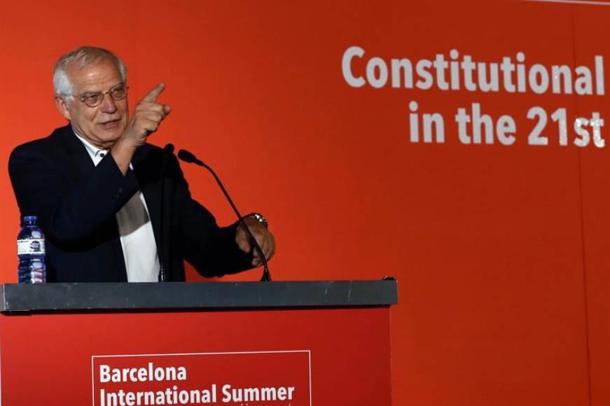 """Borrell: el fascismo miente, """"la autodeterminación no está reconocido ni en Canadá ni en Reino Unido"""""""