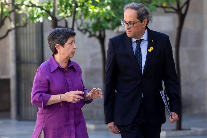 Torra pide ayuda al Gobierno del PSOE para silenciar a los españoles en Cataluña