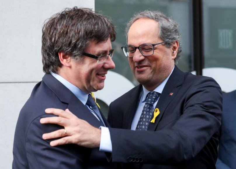Los fascistas Puigdemont y Torra ponen fecha de caducidad al Gobierno de Sánchez
