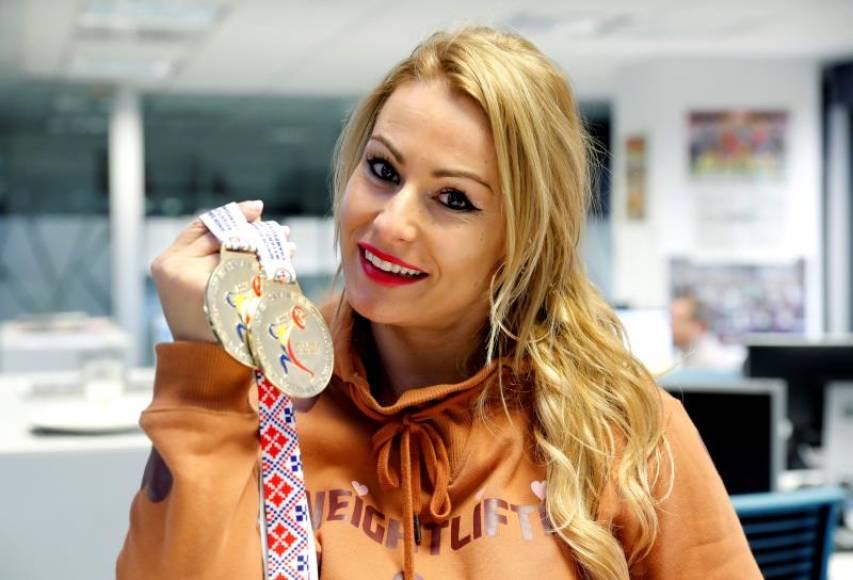 Lydia Valentín, campeona de España de halterofilia