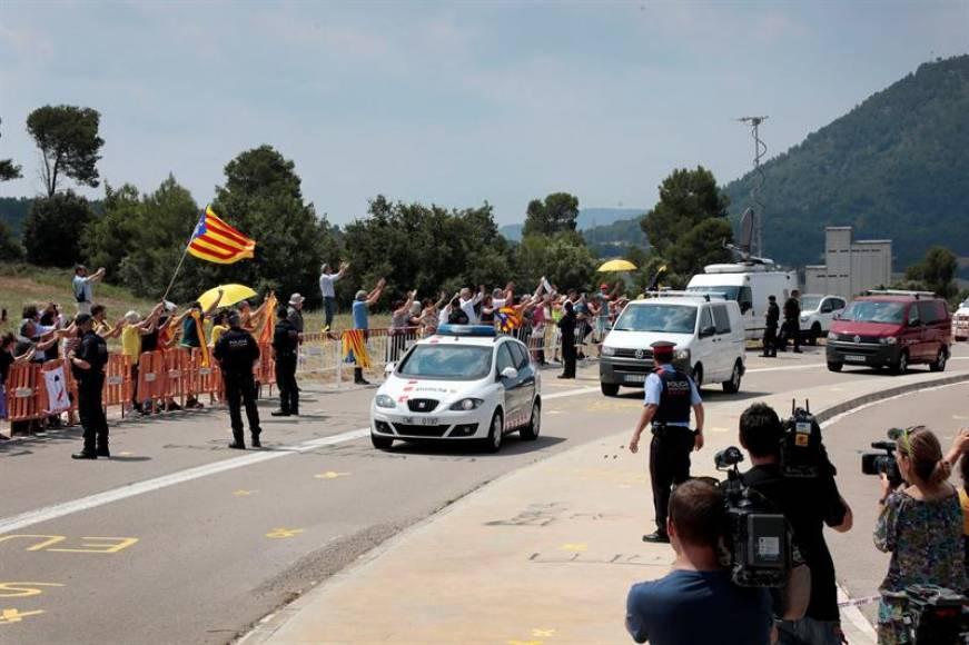 Los presos fascistas ingresan en la cárcel de «Els Lledoners» San Juan de Vilatorrada (Barcelona)