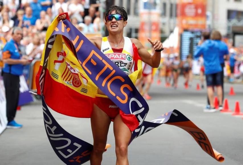 La española María Pérez, campeona de Europa de 20 km marcha
