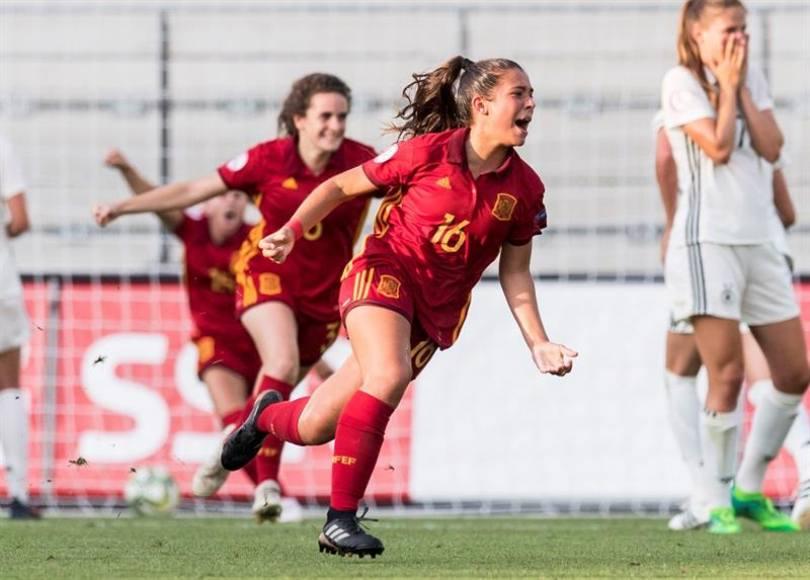 Un golazo de María Llompart hizo historia para España, segundo Europeo sub-19 consecutivo