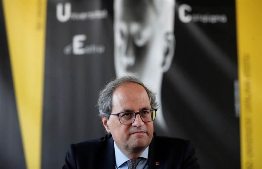 Torra, asustado ante el aviso del Gobierno: Un nuevo 155 en Cataluña