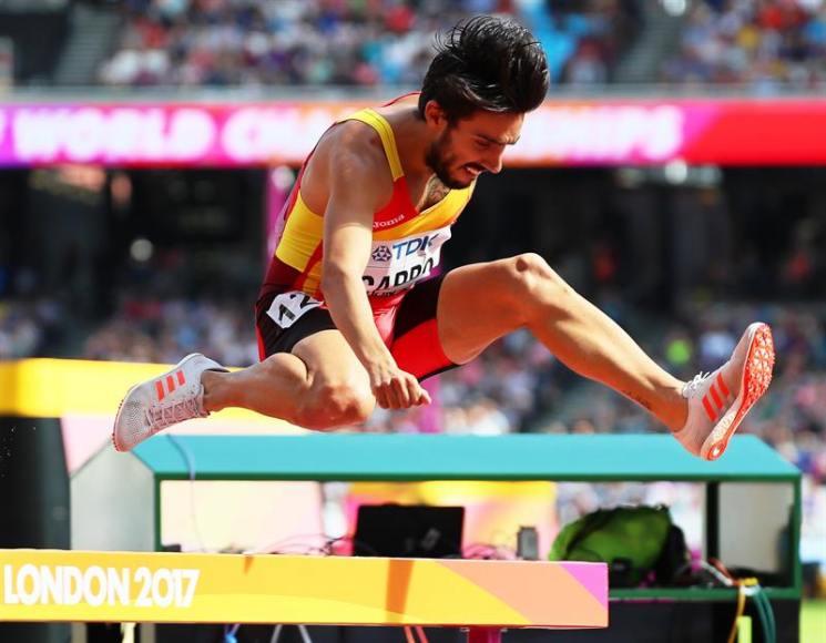 El español Fernando Carro, medalla de plata en la final de 3.000 m obstáculos de Europa