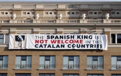 El Gobierno exige explicaciones a los Mozos por la pancarta racista contra el Pueblo Español