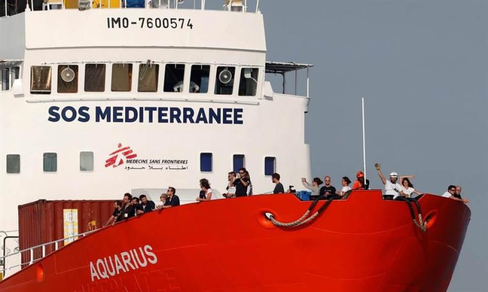 Italia y Malta rechazan acoger al barco Aquarius con 141 inmigrantes a bordo